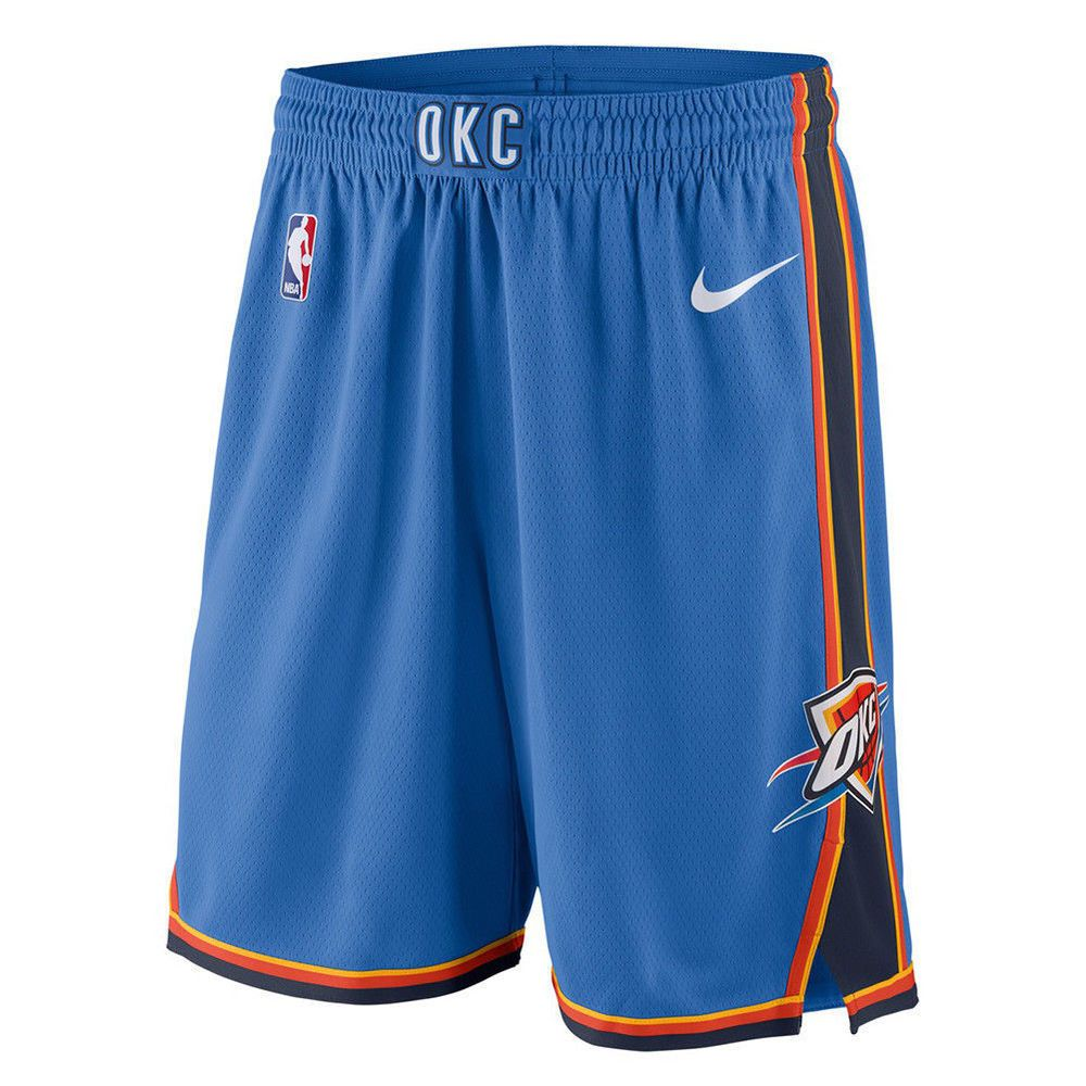 retail prices new authentic release date Nike Oklahoma City Thunder NBA Icon Swingman Mens Shorts Blue ...