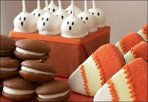 Halloween Trick or Treat Candy Dessert Buffet by Amy Atlas Foods - halloween baked goods ideas