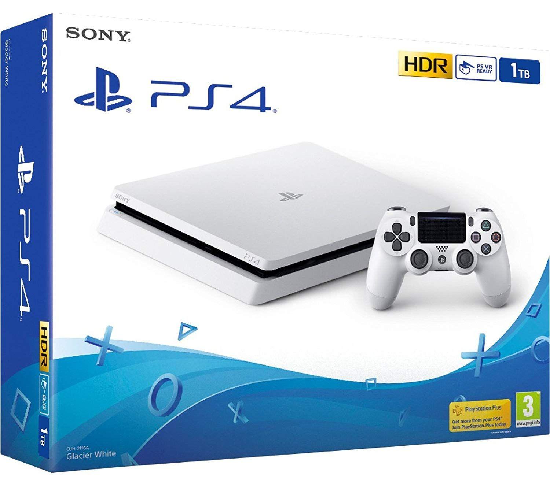 Ps4 Slim 1tb Weiss Playstation 4 Konsole 1tb Weiss Slim Inkl