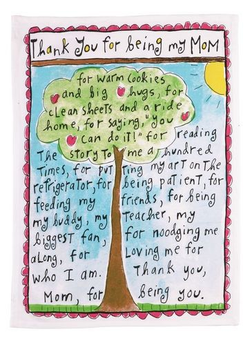 Thank You For Being My Mom Kitchen Towels - Sandy Gingras - Peking