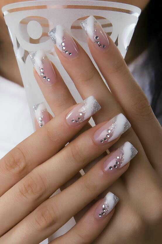 Pin By Sonicka P On Nechty Manicure Nail Designs French Manicure Nails Nail Art Wedding