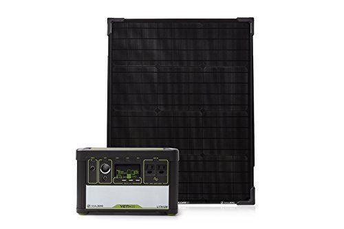 Goal Zero Yeti 400 Lithium Solar Generator Kit With Boulder 50 Solar Panel Amazon Most Trusted E Solar Generator Portable Solar Generator Solar Generators
