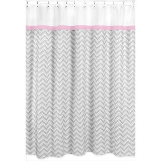 pink grey shower curtain. Chevron Grey Shower Curtain Pink Trim  Overstock Com Shopping Great Deals On Sweet