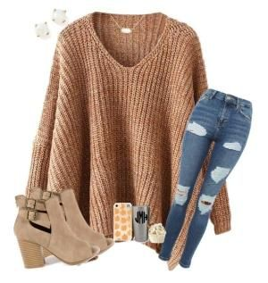 Fall is all about the sweaters!!! by beddiann ❤ liked on Polyvore featuring GRETCHEN, Kendra Scott, Topshop and Bloomingdale's by brianna #collegeoutfits