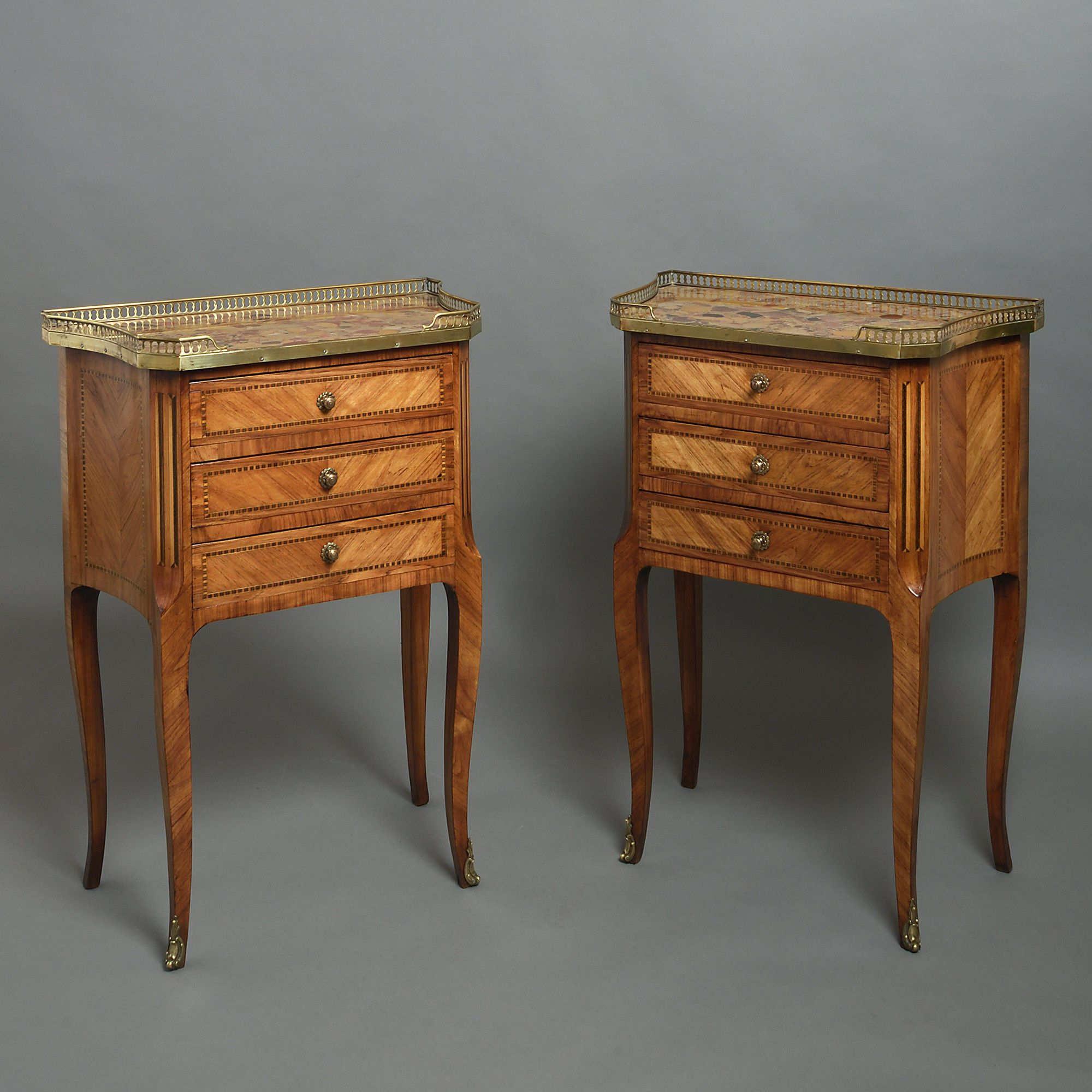 19th Century Pair of Louis XVI Style Bedside