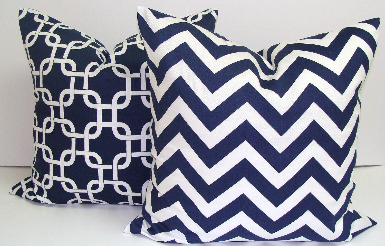 PILLOW.BLUE PILLOW.12x16 or 12x18 inch.Lumbar Pillow Cover ...