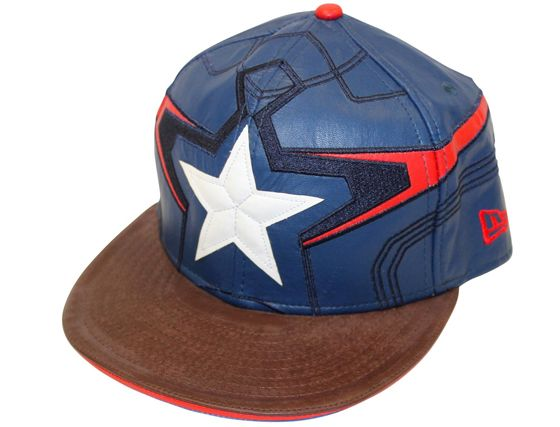 570a5f46 Captain America Character Face 59Fifty Fitted Baseball Cap by MARVEL x NEW  ERA
