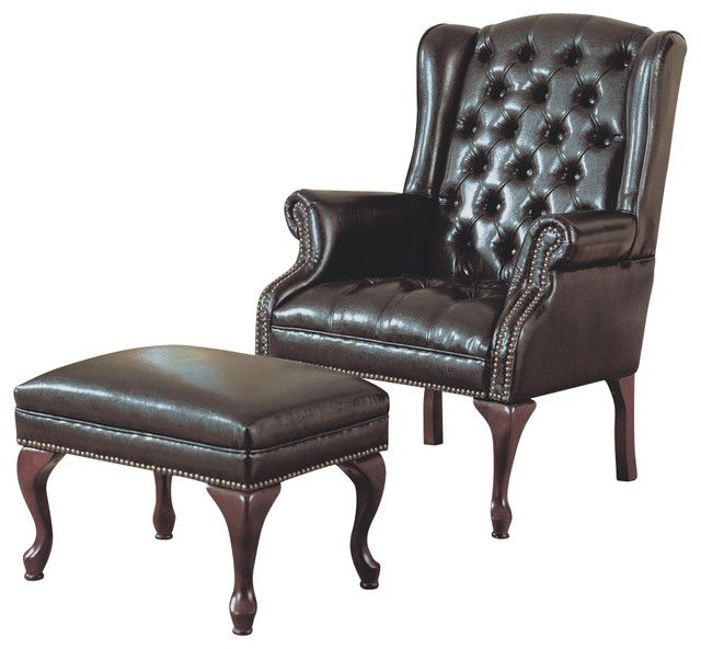Superieur Modern Living Room Seating U2013 Wingback Chair With Ottoman