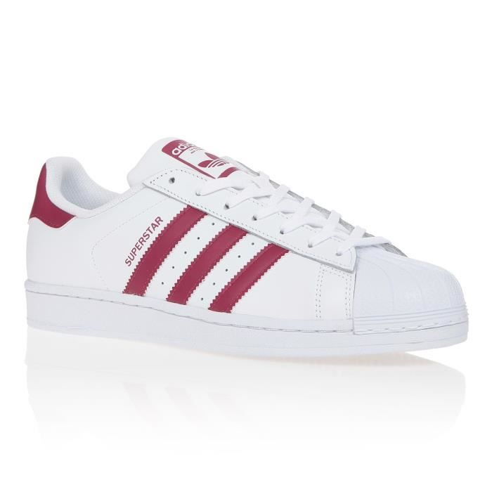 ADIDAS ORIGINALS Baskets Superstar - Homme - Blanc et rouge ...