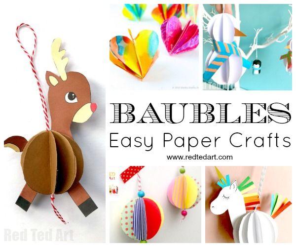 Captivating Paper Christmas Ornament DIY Ideas