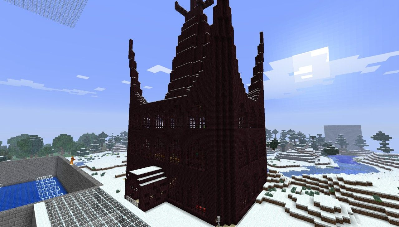 Nether Castle Minecraft Project Minecraft Minecraft Projects Castle