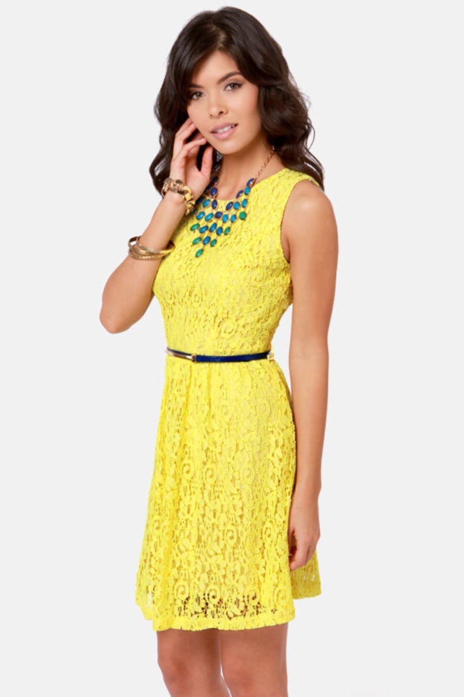 Yellow dress to wedding   Inspiring Yellow Lace Wedding Dress Ideas  Dress ideas Lace