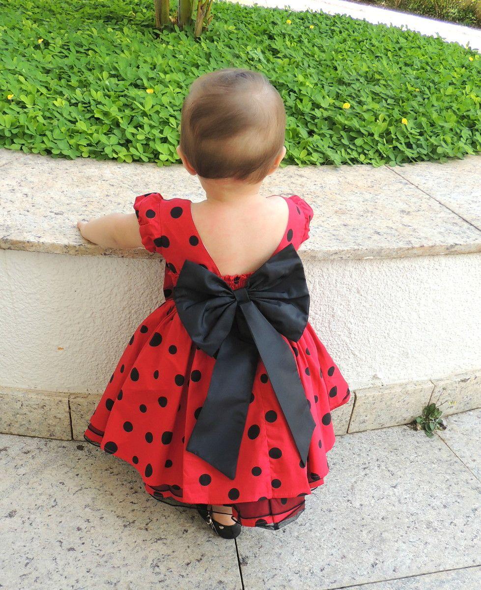 02b3aafb4f1 Vestido Minnie Vermelho com Bolinhas Pretas