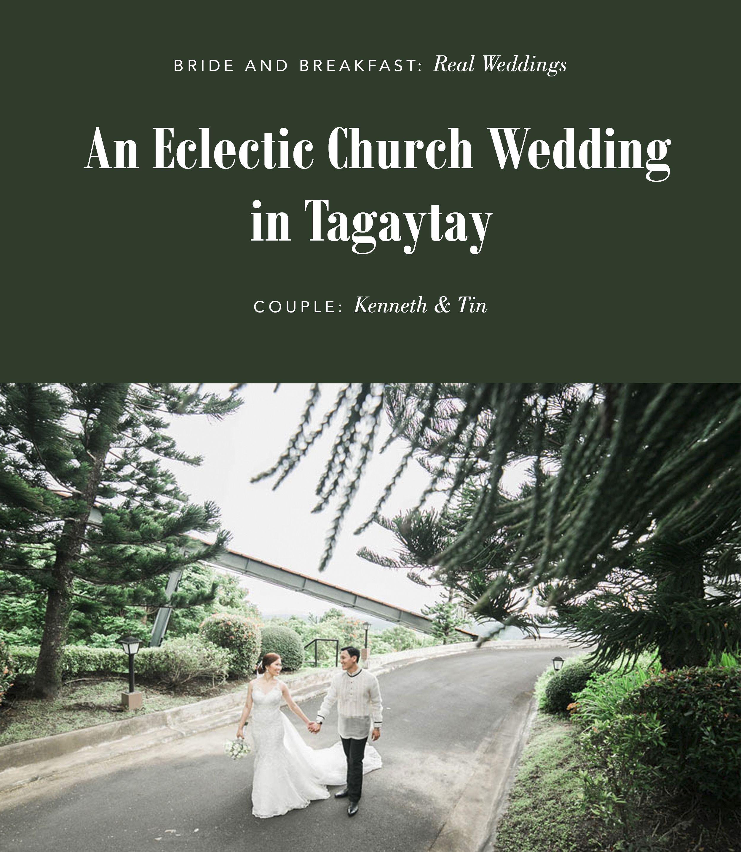 An eclectic church wedding in tagaytay tagaytay wedding and weddings