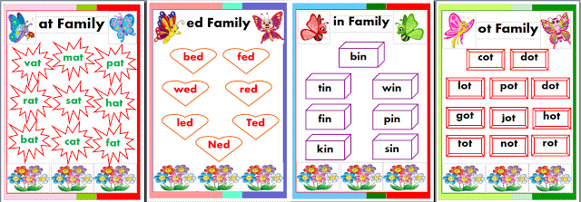 Cvc Word Charts In Printable Pub Format Cvc Words Cvc Resource
