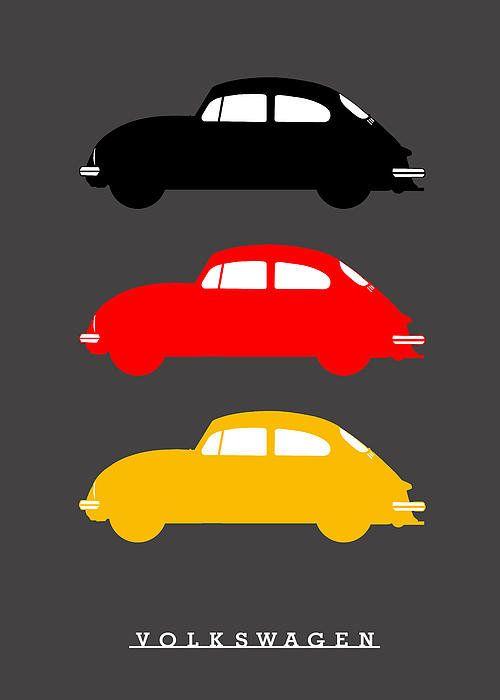 German Icon Vw Beetle Poster By Mark Rogan Volkswagon