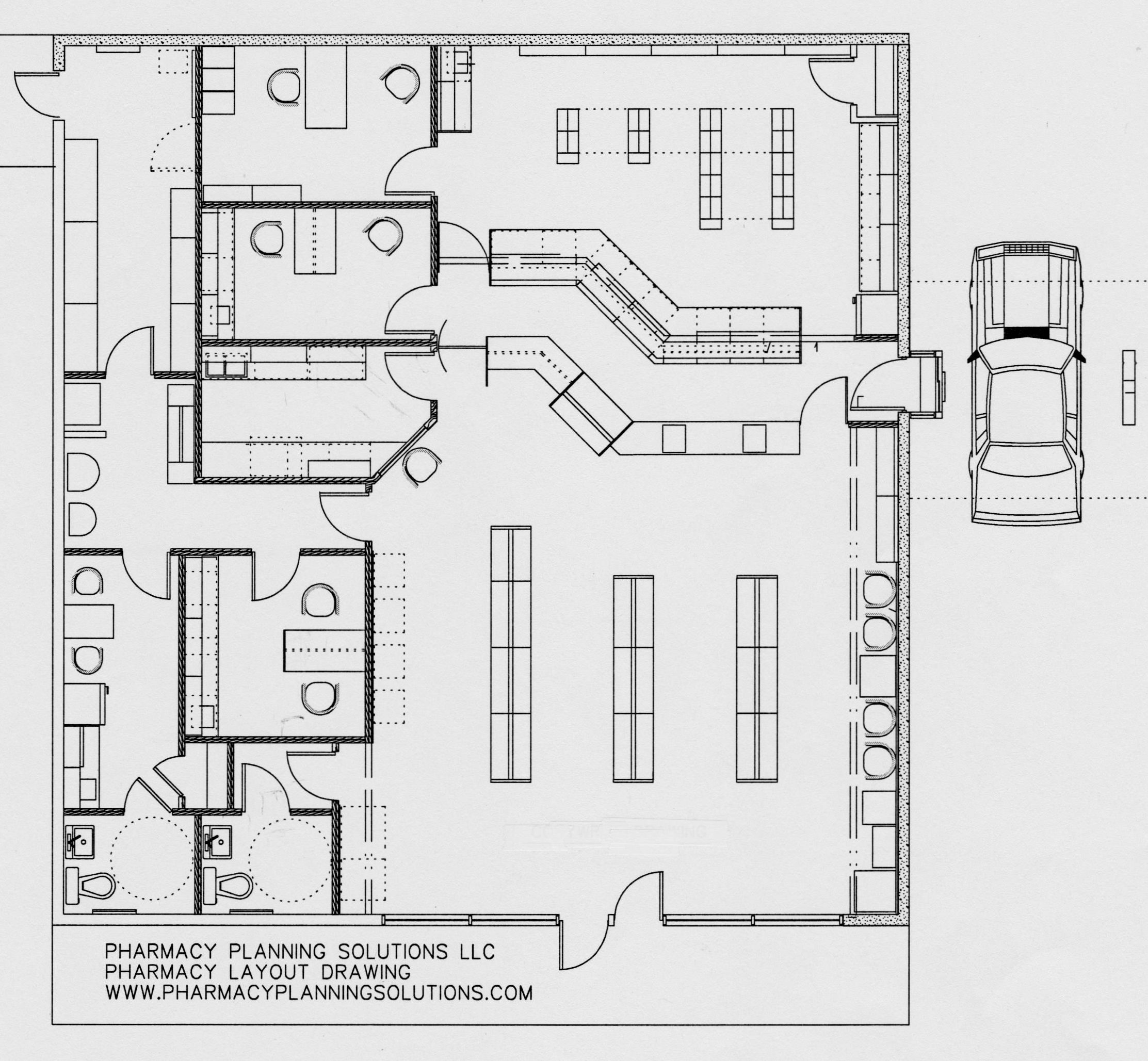 Pharmacy layout by pharmacy planning solutions pharmacy for Pharmacy design floor plans