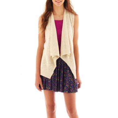 Arizona Sleeveless Cardigan, Cropped Tank Top or Print Skater Skirt   found at @JCPenney
