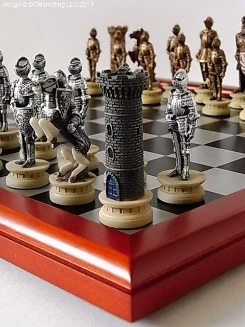 Medieval Warrior Hand Decorated Themed Chess Set Including Chess Board Chess Board Chess Set Themed Chess Sets