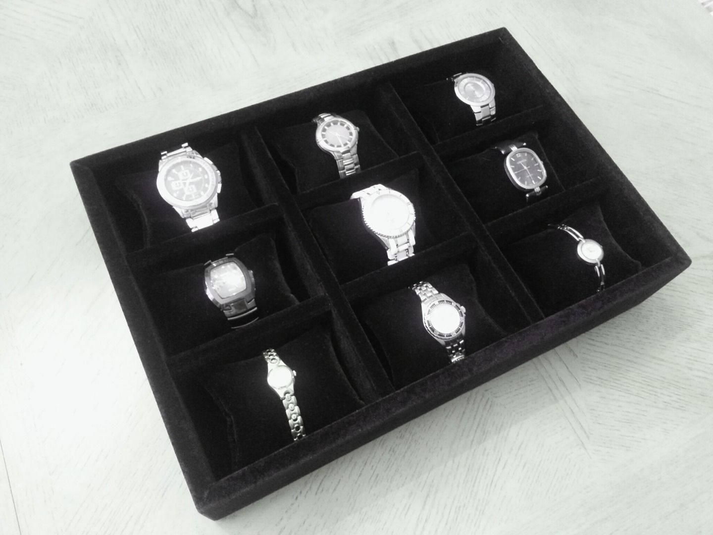 Protect your watches with velvet tray inserts for drawers Jewelry