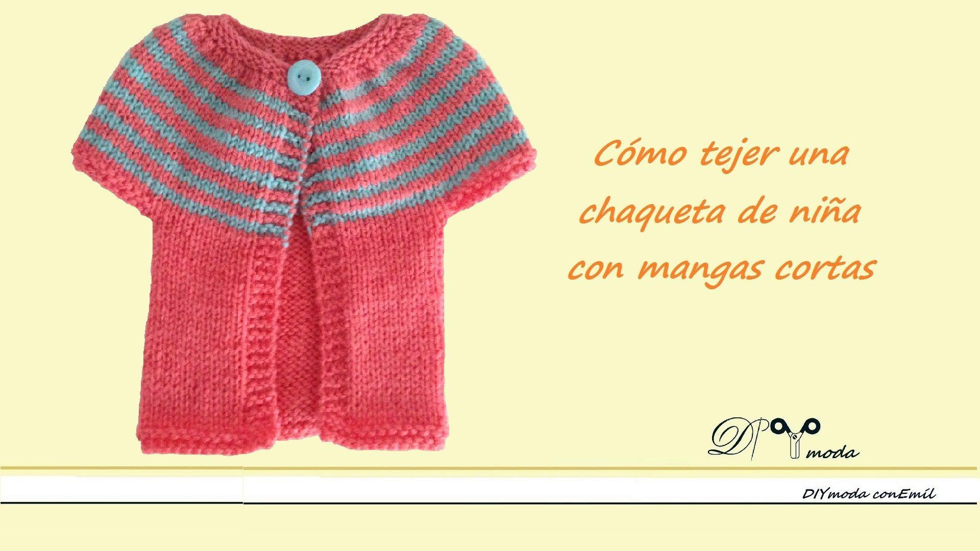 Cómo tejer chaqueta o abrigo con mangas cortas, para niña | ponchos ...