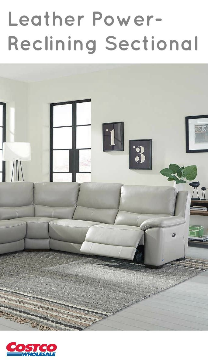 Upgrade Your Space With The Stonebrook Top Grain Leather Power Reclining  Sectional. The Stonebrook
