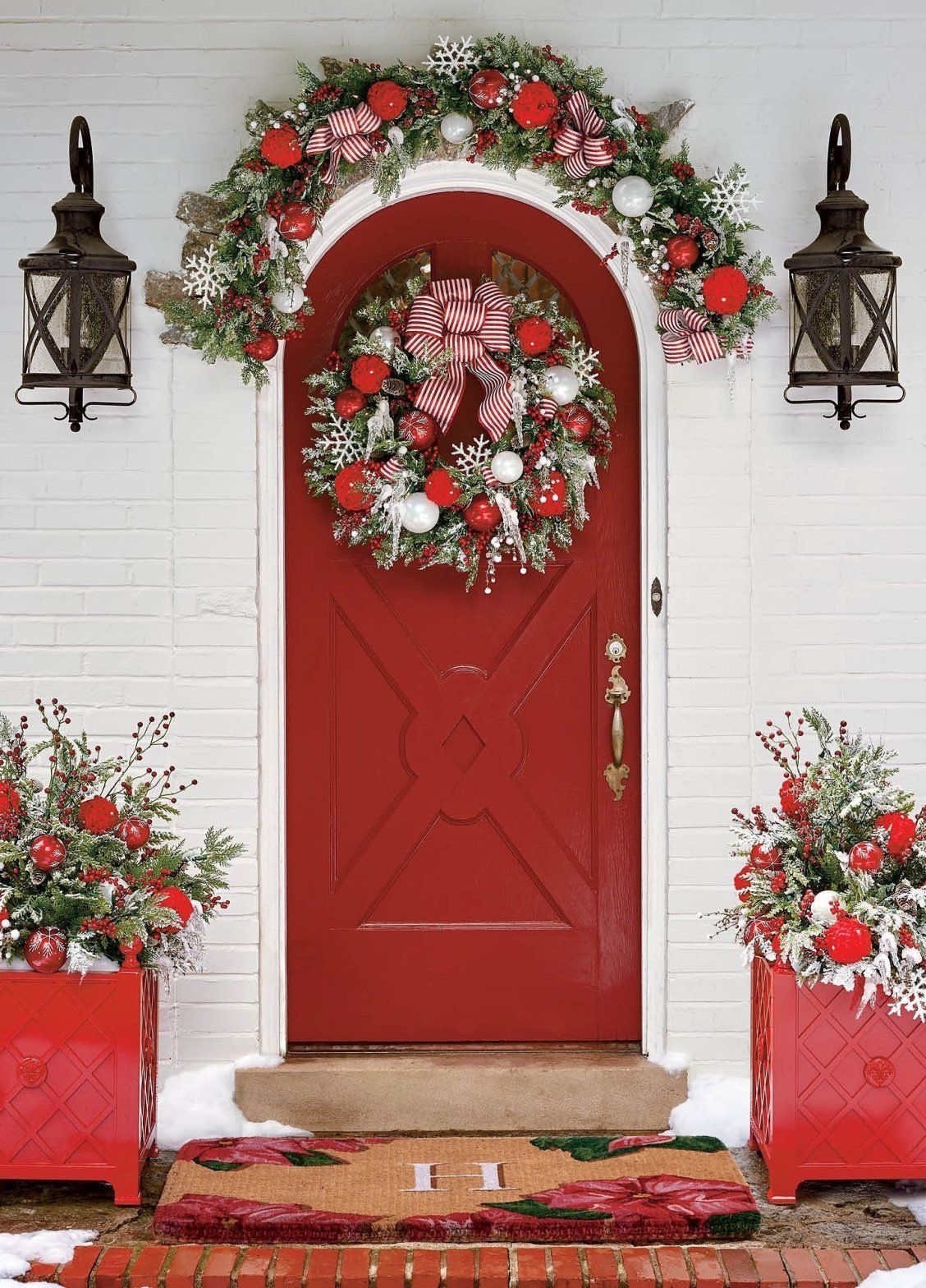 Frosted Holiday Cordless Outdoor Greenery Collection | Frontgate