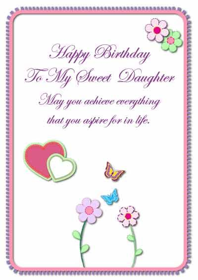 image regarding Free Printable Birthday Cards for Daughter referred to as Daughter Birthday Playing cards -