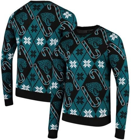 NFL Jacksonville Jaguars Team Apparel Candy Cane Repeat Mens Sweater | Jacksonville  Jaguars | Pinterest