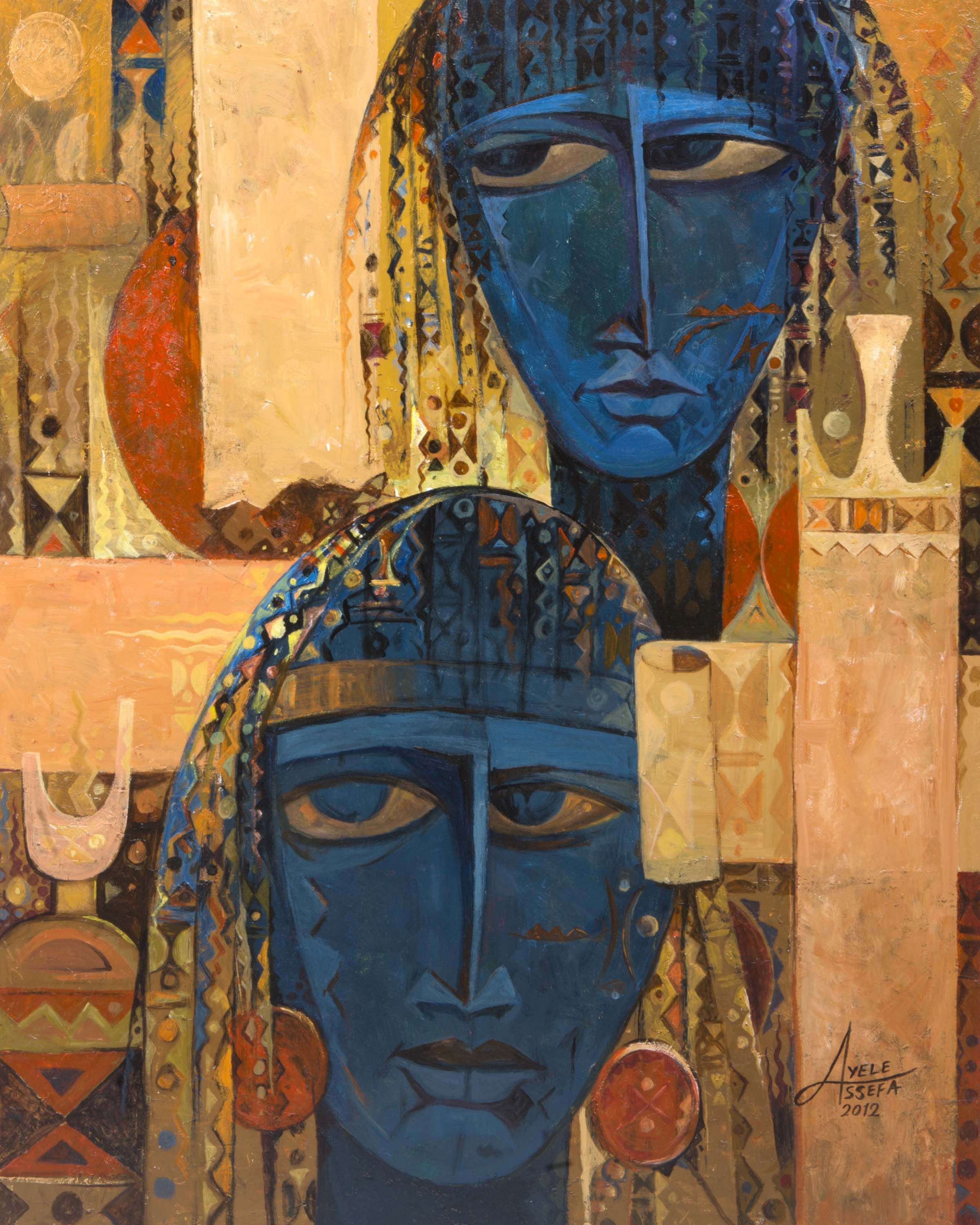 Contemporary Ethiopian And African Paintings Art St