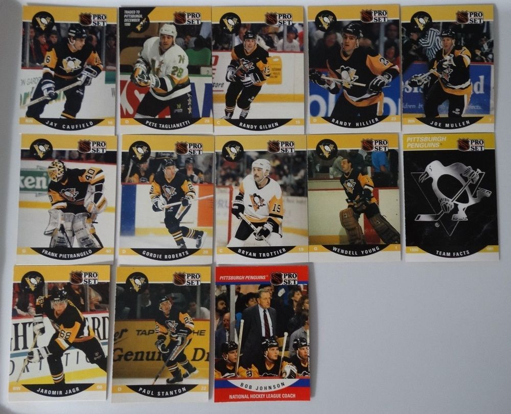 199091 pro set series 2 pittsburgh penguins team set of