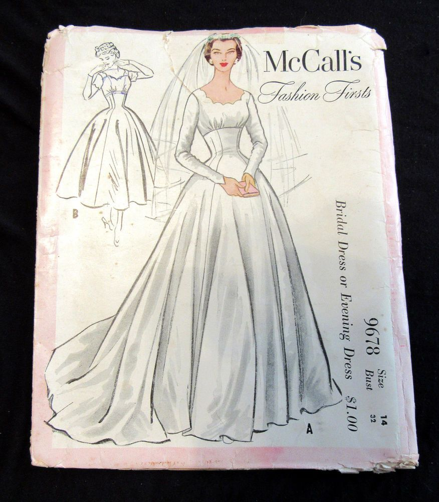 Rare Vtg 50 S Bridal Gown Wedding Evening Dress Sewing Pattern Mccall S 967 Bridesmaid Dress Sewing Patterns Evening Dress Sewing Patterns Sewing Wedding Dress [ 1000 x 876 Pixel ]