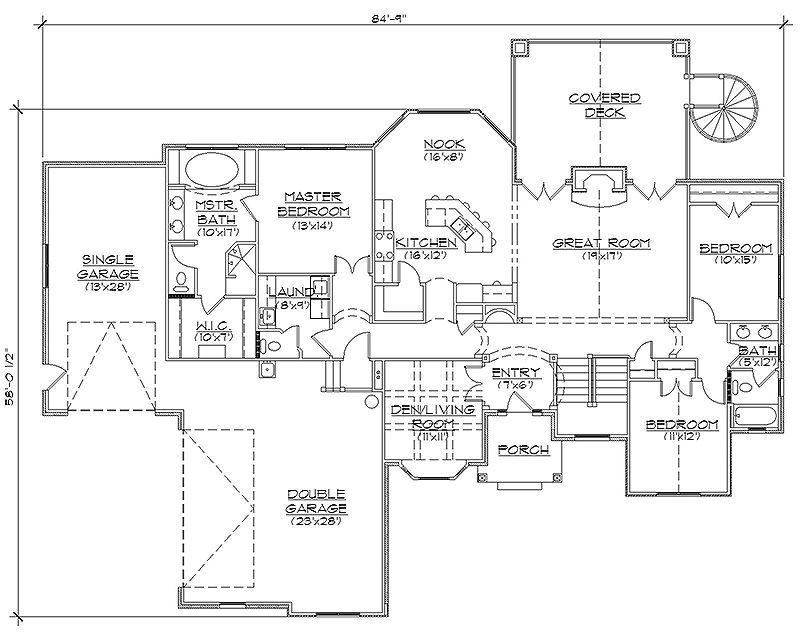 Rambler House Plans With Basements Professional House Floor Plans Custom Design Homes Country Style House Plans Rambler House Plans Basement House Plans