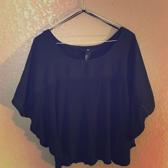 H&M top Butterfly designed shirt. The sleeve holes are larger than normal tops. H&M Tops Blouses