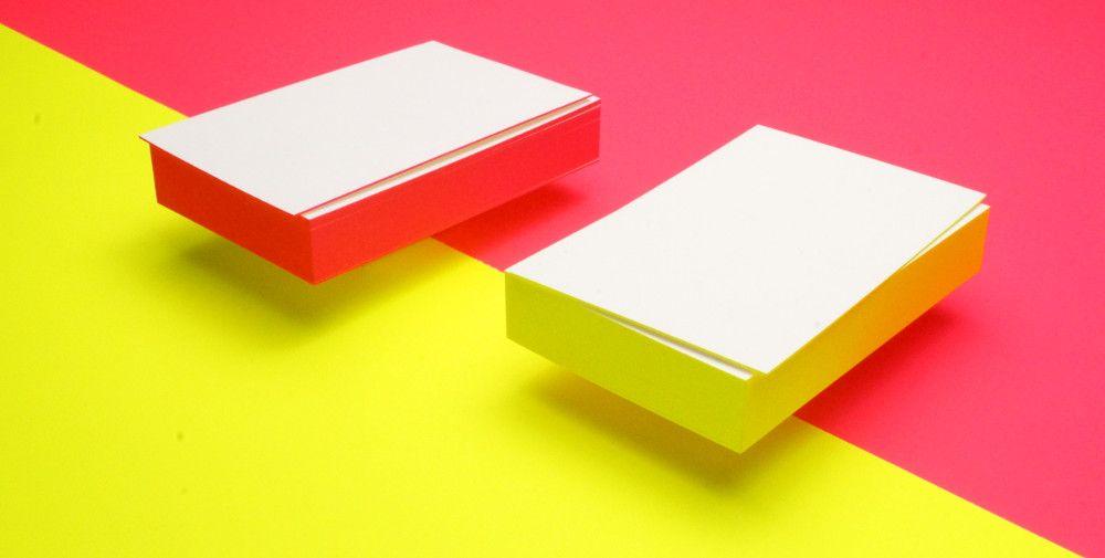 Visitenkarten Mit Farbschnitt Visitenkarten Drucken Und