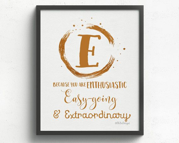 Not Just An Ordinary Monogram For The Letter E This Pretty