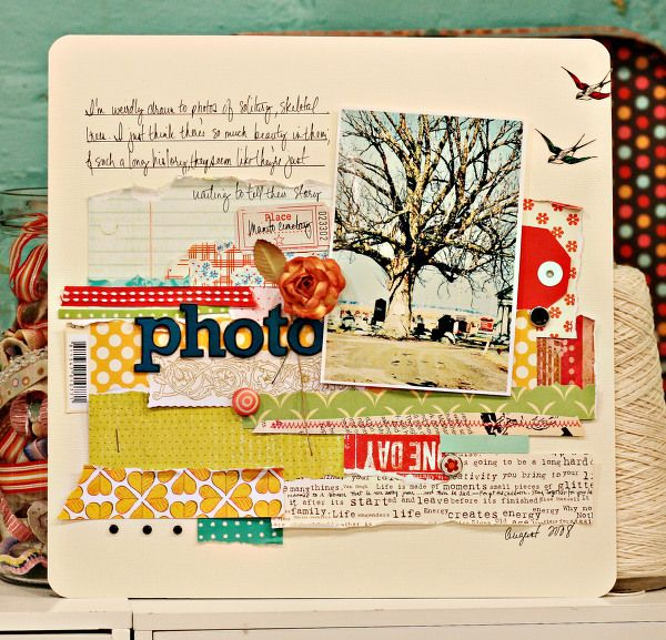 Must try to scraplift that paper strip layering!