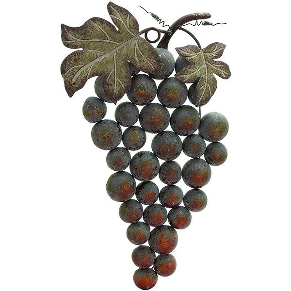 Plutus Brands Weathered Metal Grape Wall Decor ($89) ❤ liked on ...