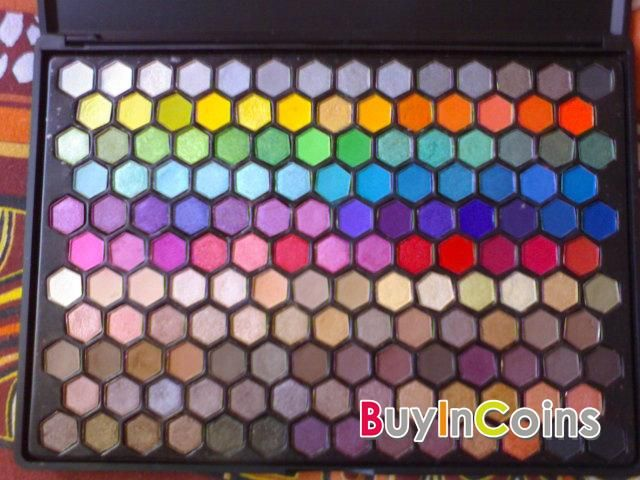 149 Color Makeup Eyeshadow Palette Set Cosmetic Honeycomb Design With Mirror -- BuyinCoins.com
