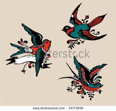 Gallery For Gt Vintage Bird Tattoo Designs Vintage Bird Tattoo Vintage Tattoo Birds Tattoo