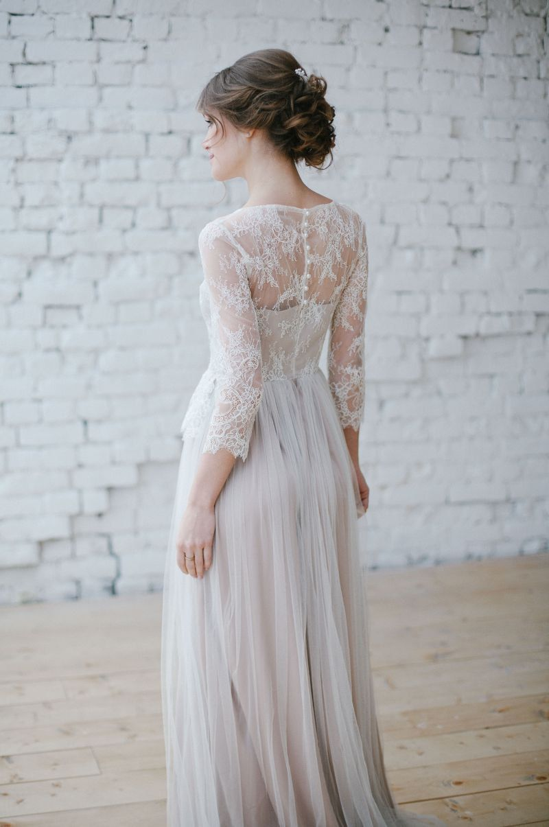 Wedding dress Boho wedding dress Romantic Wedding Dress Long Sleeve ...