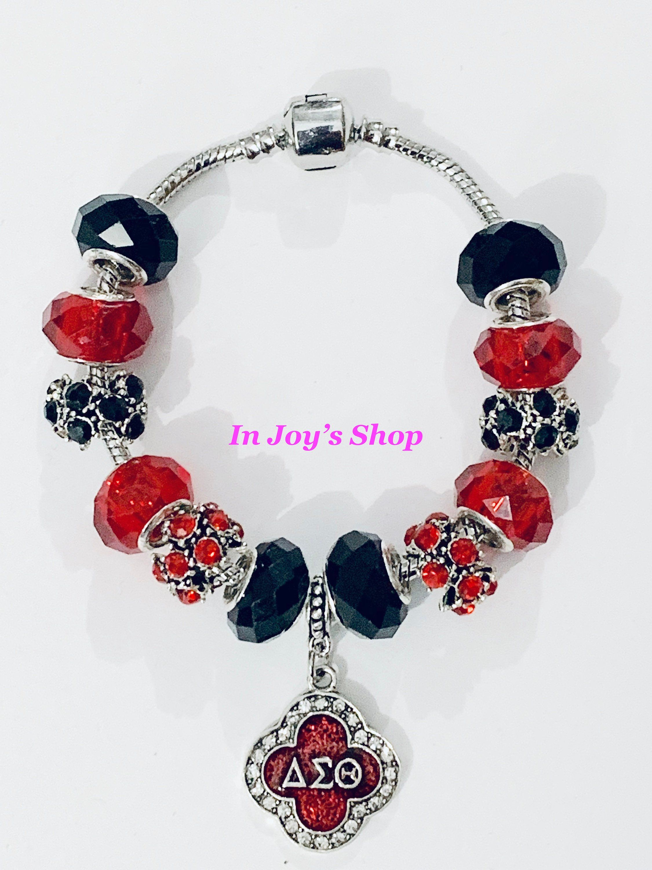 NEW Sorority Inspired Charm BraceletNecklace Set