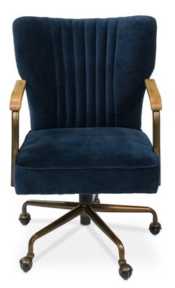 Brooks Navy Blue Swivel Desk Chair Surf Inspired Home Decor