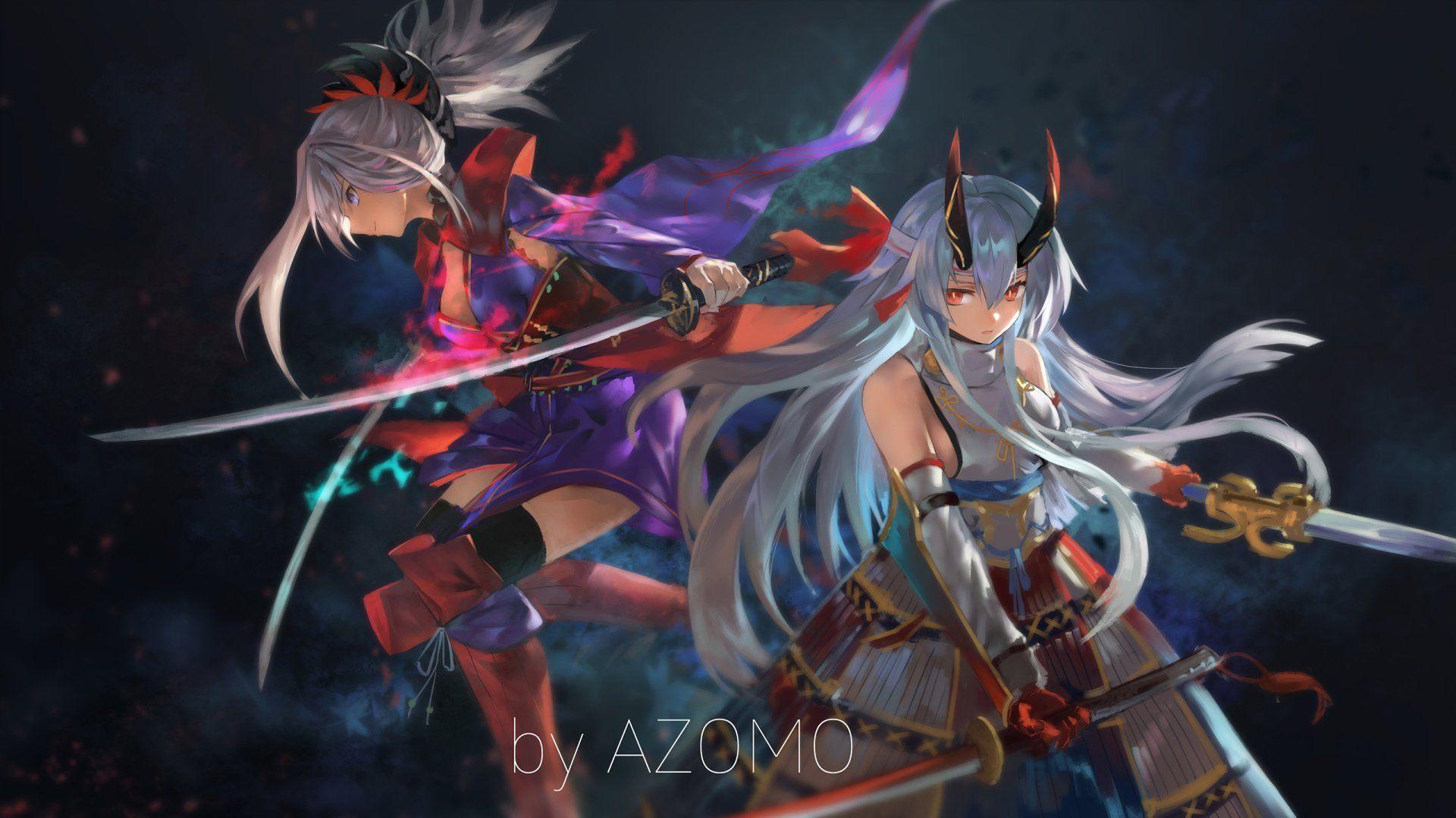 Anime Fate Grand Order Miyamoto Musashi Tomoe Gozen Fate Grand
