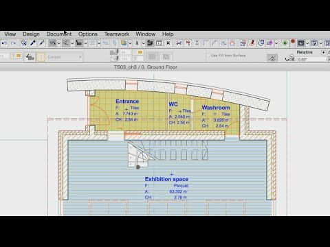 Changing the Appearance of Zones – Zone Fills - ArchiCAD 18 Training