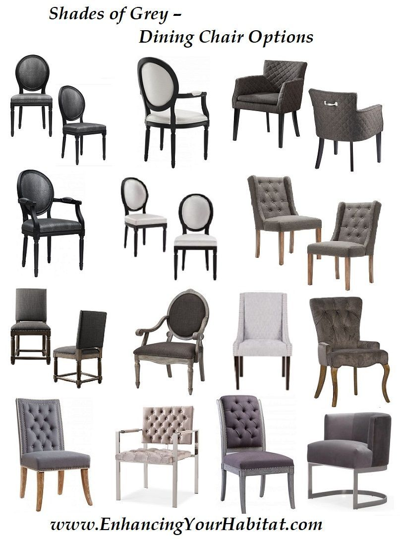 Grey Silver Velvet Leather Chic Dining Chair Options