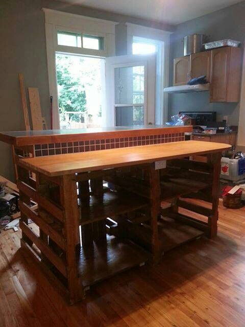 Pallets Pallet Kitchen Craft Table Wooden Pallet Projects