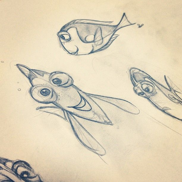 Pixar Dory Sketch By Fern