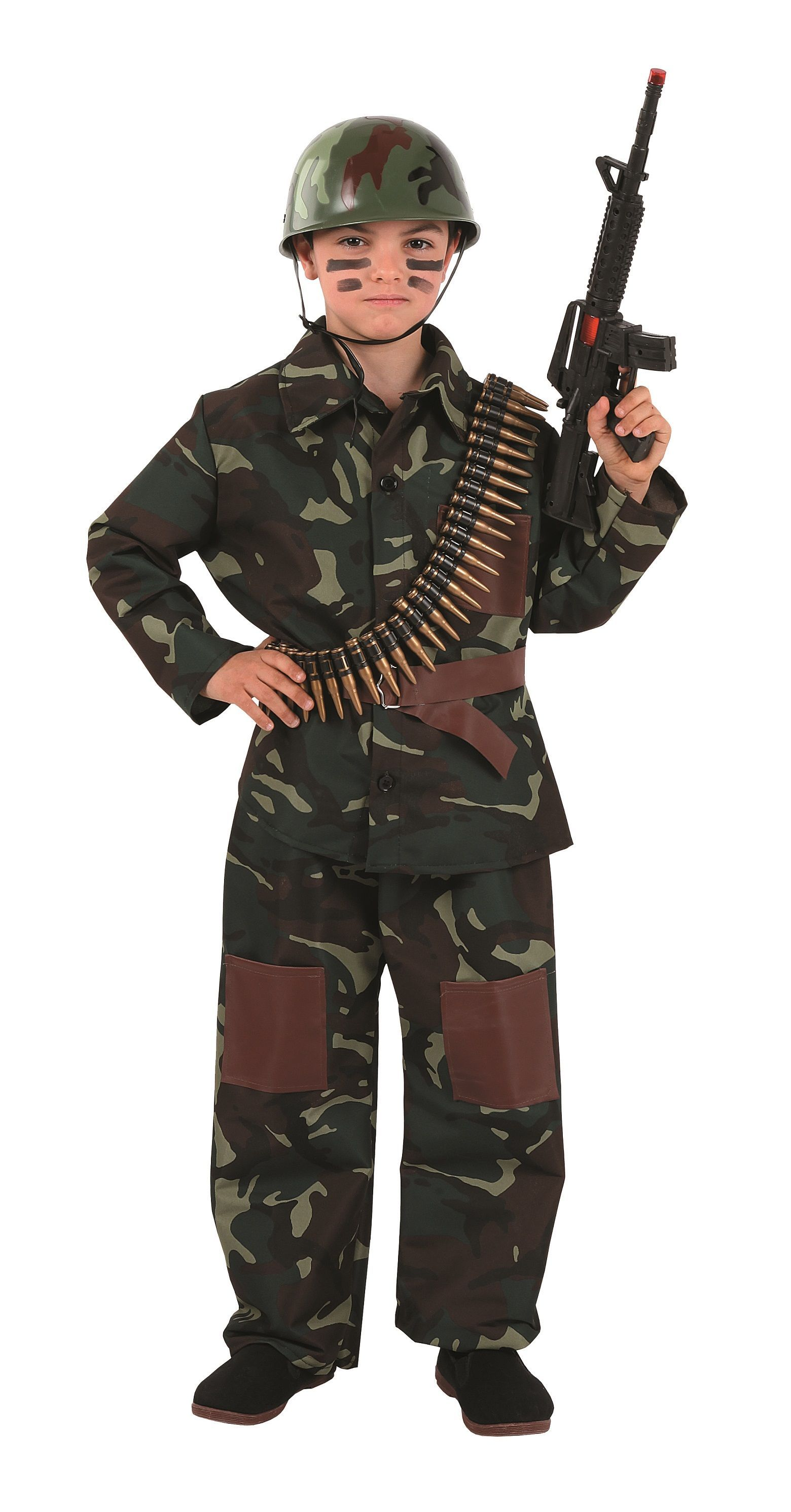 Girls Kids WWII Army Soldier Costume Military Fancy Dress Outfit New 6-8-10-12