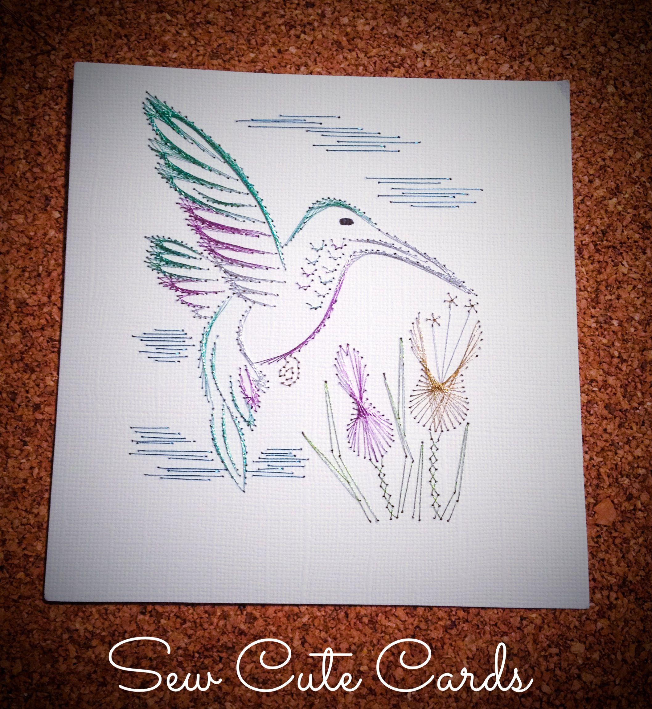Hummingbird by Sew Cute Cards http://sewcute.storenvy.com…